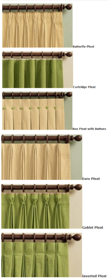drapery pleats how to make