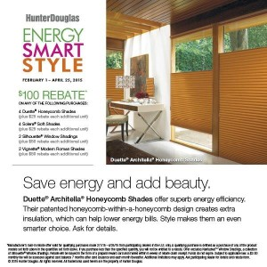 Hunter Douglas Rebates on Energy Efficient Window Treatments