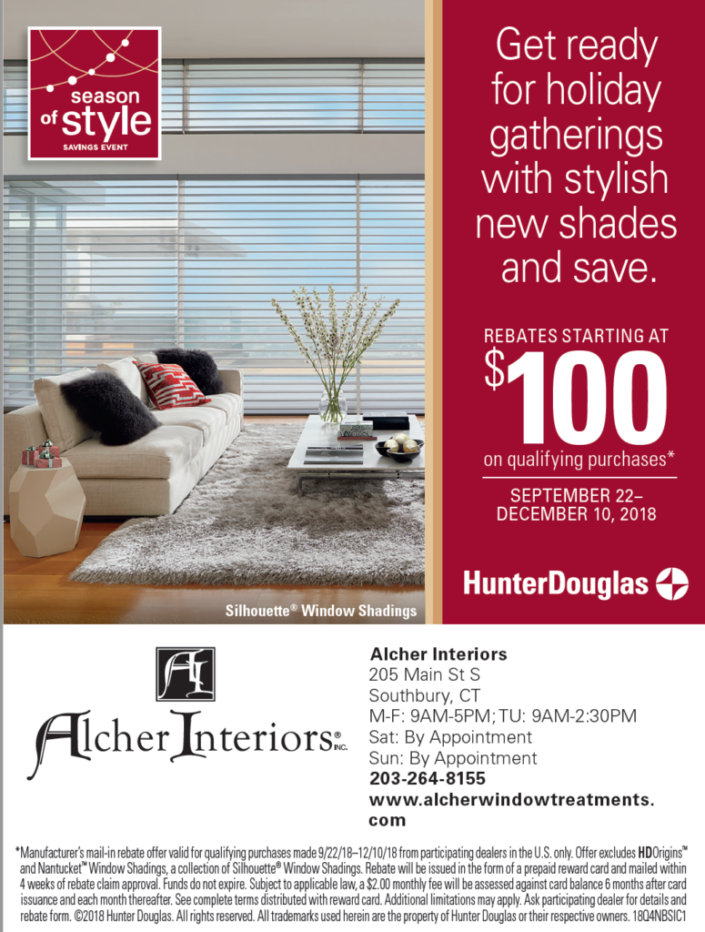 Hunter Douglas Sale Fall 2018